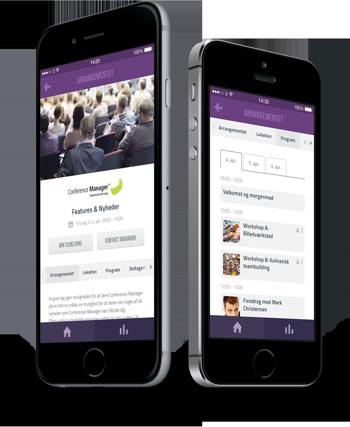 Arrangement på CM Events appen